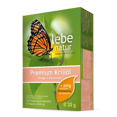 Krilloel Premium mit Astaxanthin-60-Kps