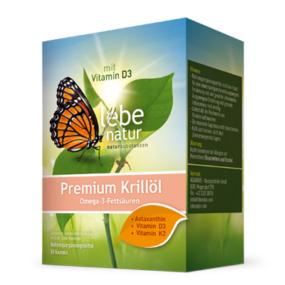 Krilloel Premium u. Vitamin D3 u. K2-80-Kps